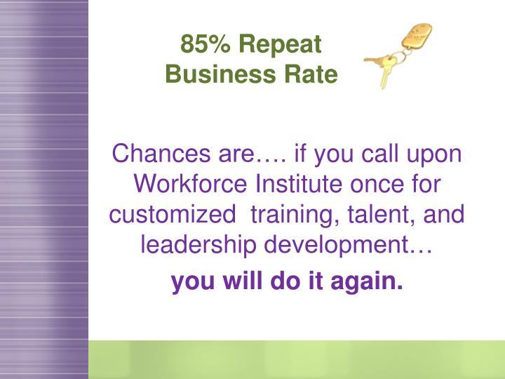 85% Repeat