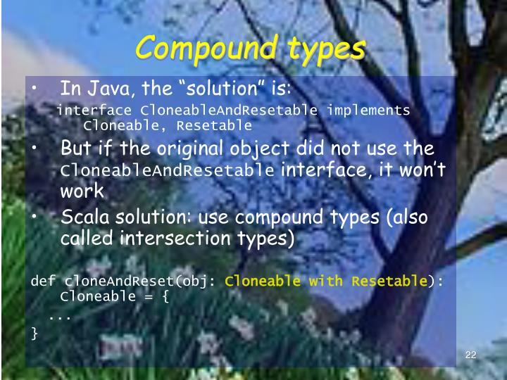 Compound types