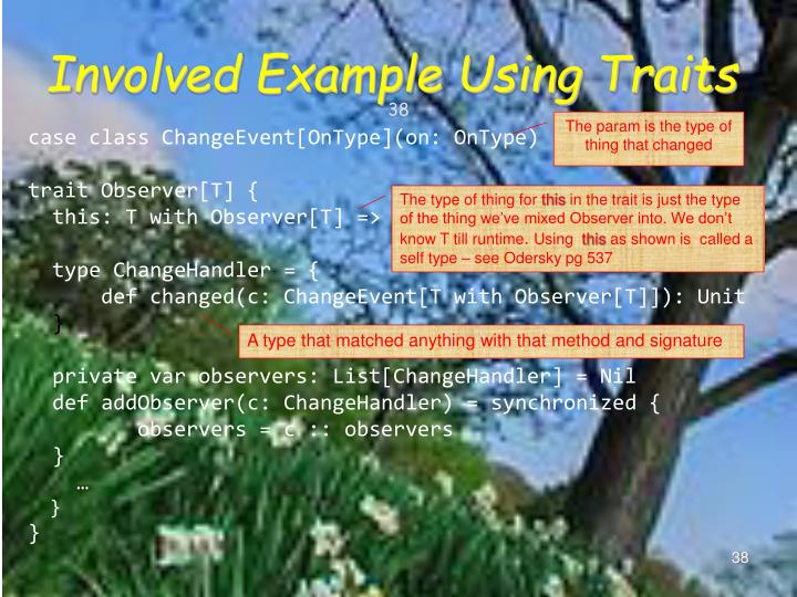 Involved Example Using Traits