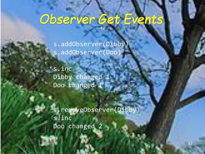 Observer Get Events