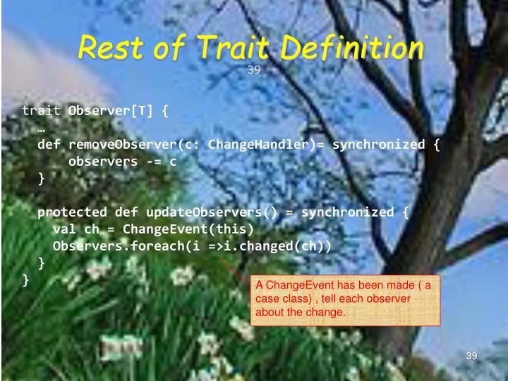 Rest of Trait Definition