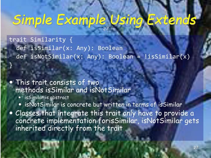 Simple Example Using Extends