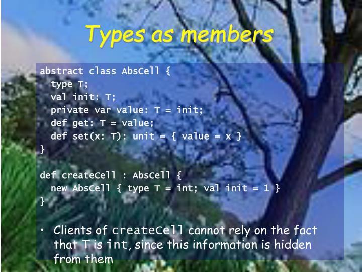 Types as members