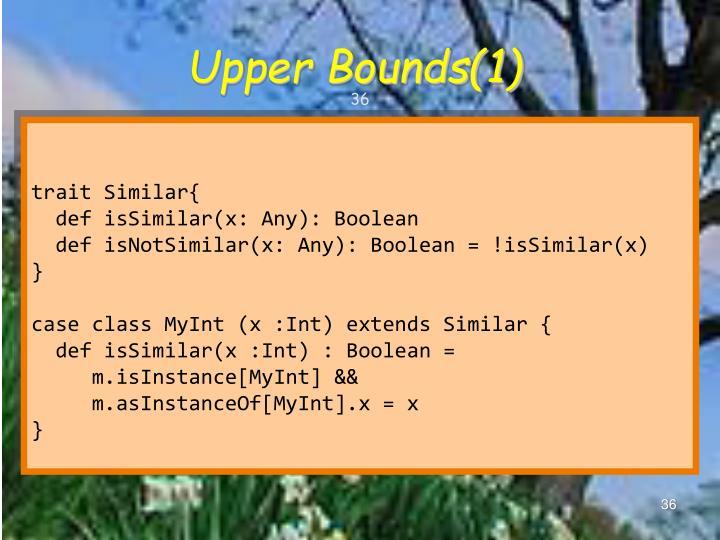 Upper Bounds(1)