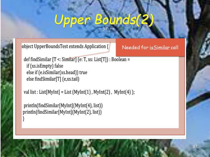 Upper Bounds(2)