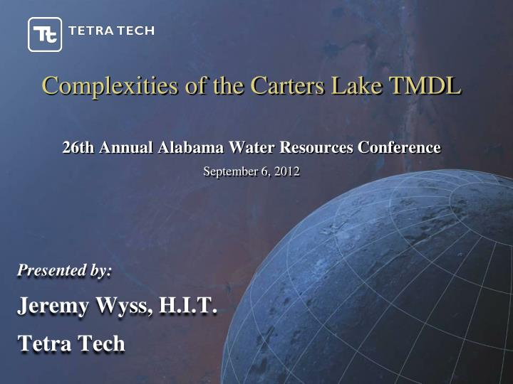 Complexities of the Carters Lake TMDL