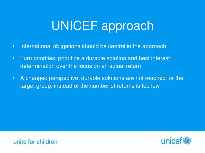 UNICEF approach