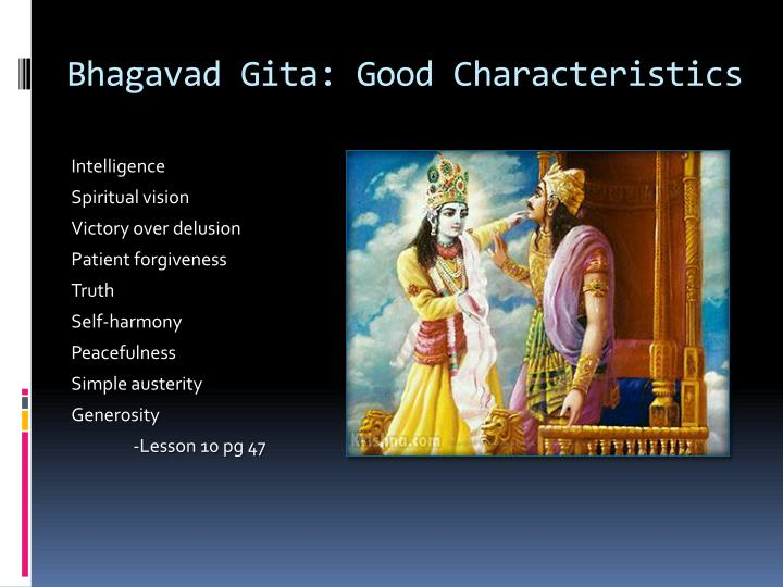 Bhagavad Gita: Good Characteristics