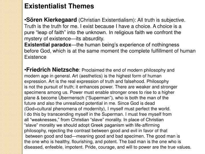 Existentialist Themes