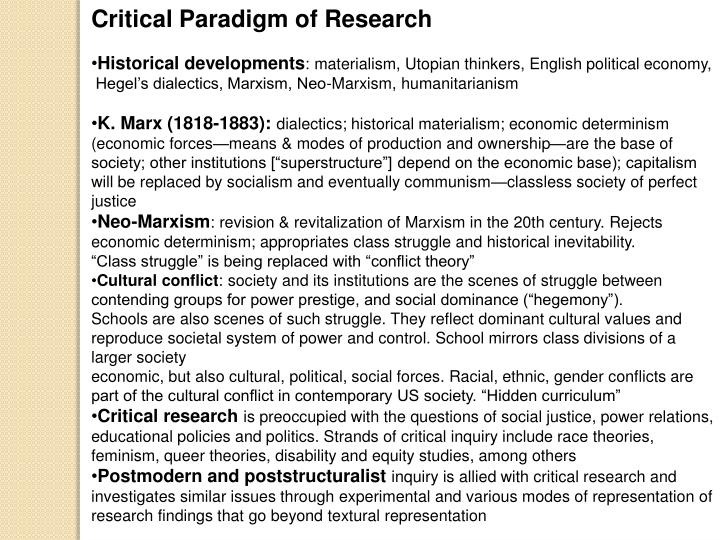 Critical Paradigm of Research