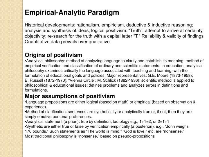 Empirical-Analytic Paradigm