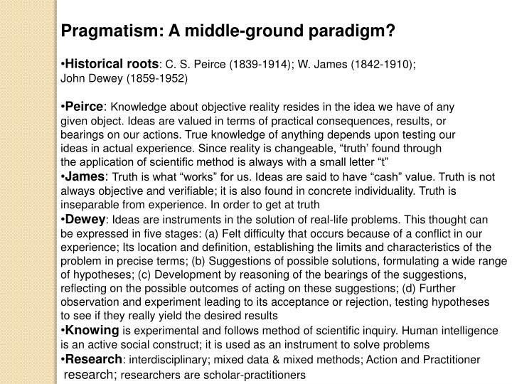 Pragmatism: A