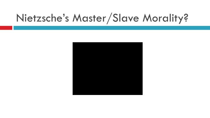 Nietzsche's Master/Slave Morality?