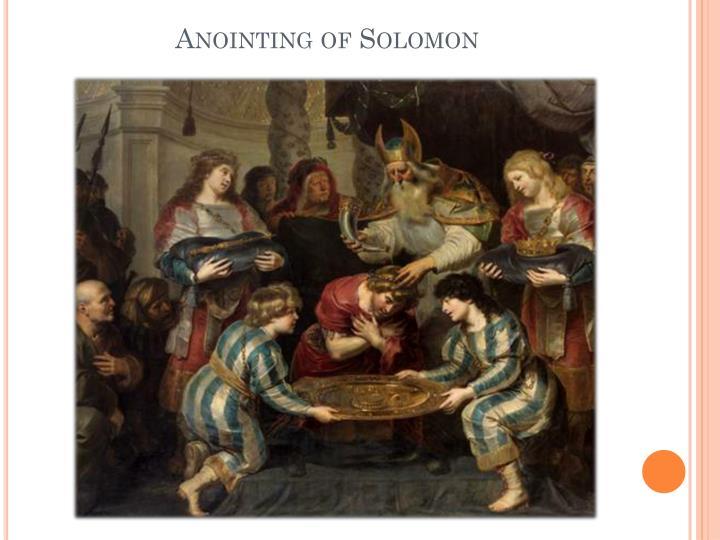 Anointing of Solomon
