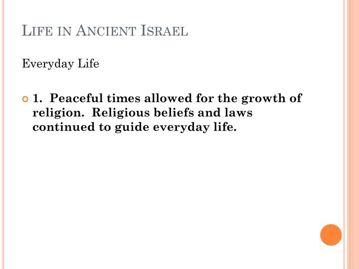 Life in Ancient Israel