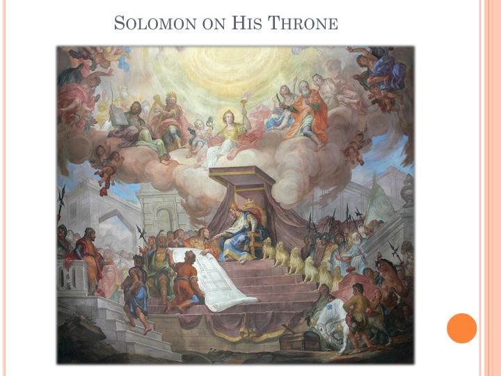 Solomon on His Throne