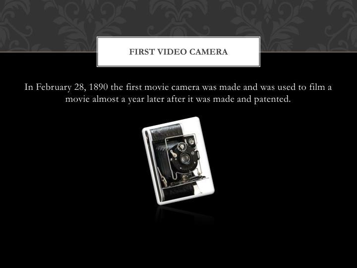 First video camera
