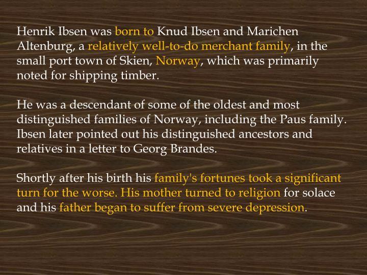 Henrik Ibsen was