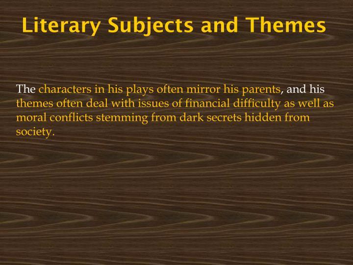 Literary Subjects