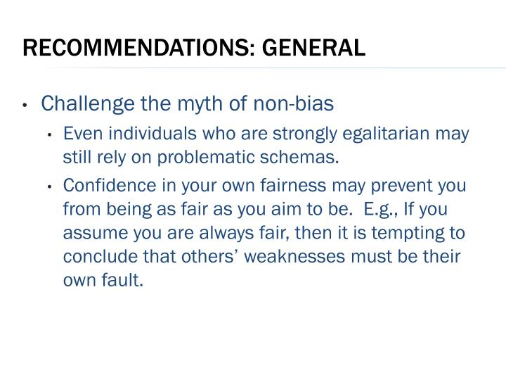 Challenge the myth of non-bias