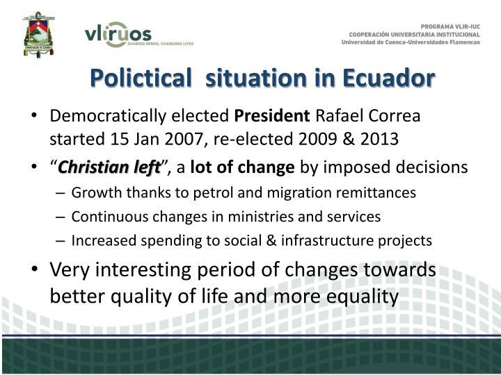 Polictical  situation in Ecuador