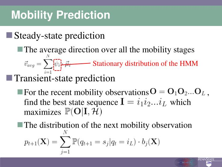 Mobility Prediction
