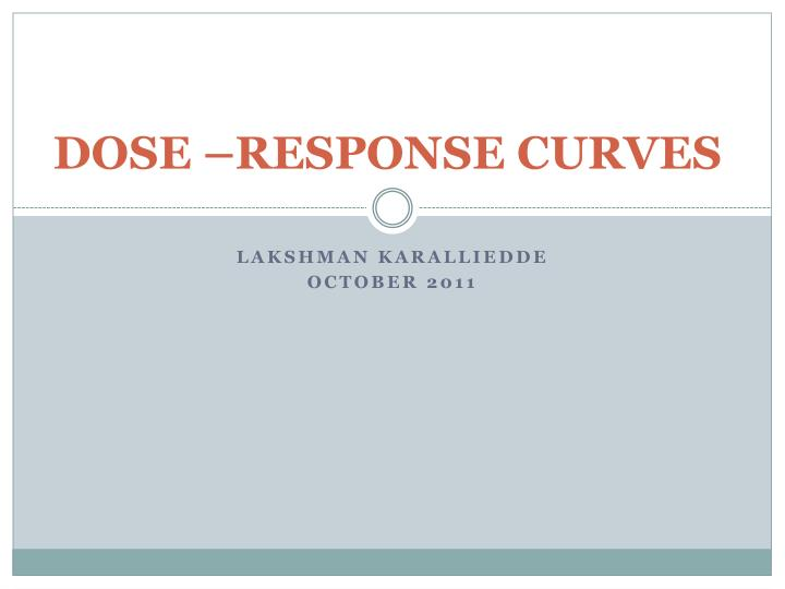 Dose response curves
