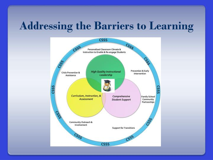 Addressing the Barriers to Learning
