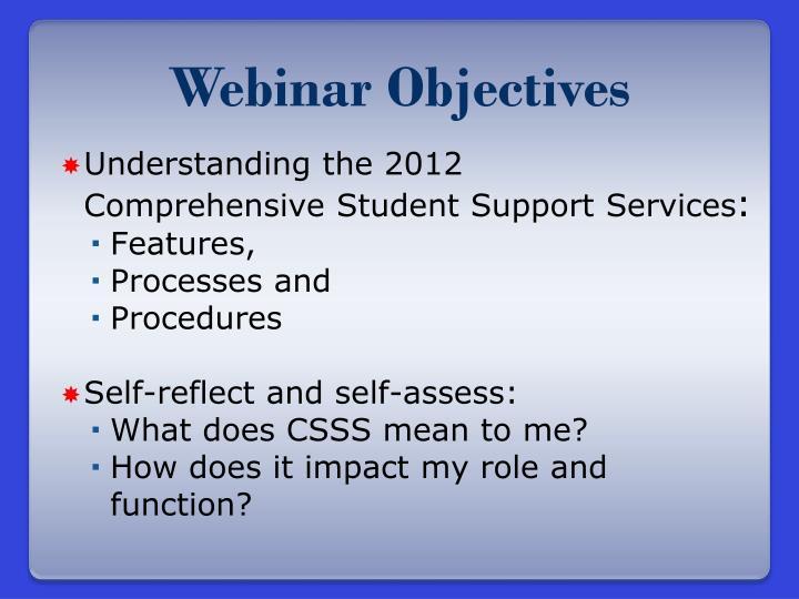 Webinar Objectives