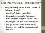 levi matthew a tax collector1