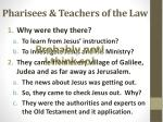 pharisees teachers of the law