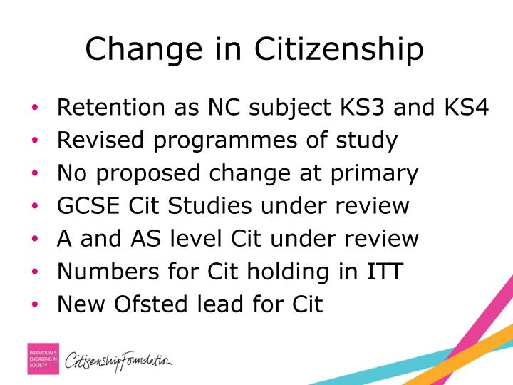 Change in Citizenship
