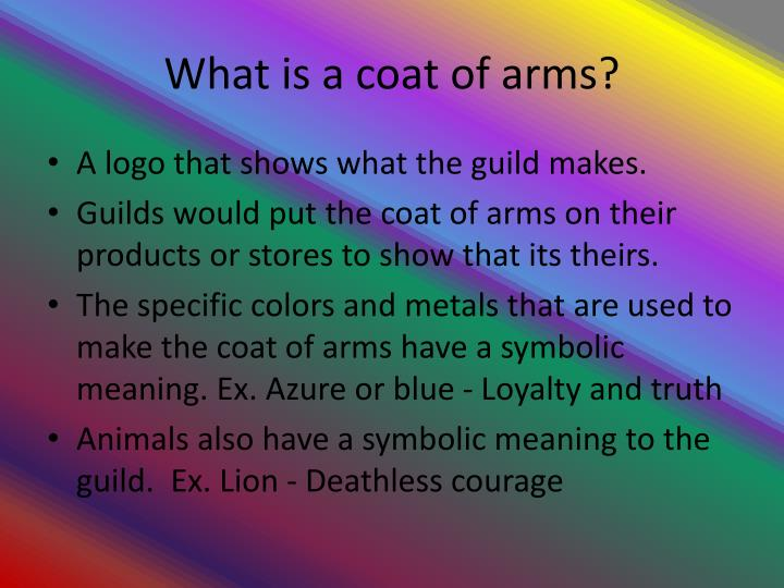 What is a coat of arms?