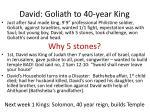 david goliath to 40 year king