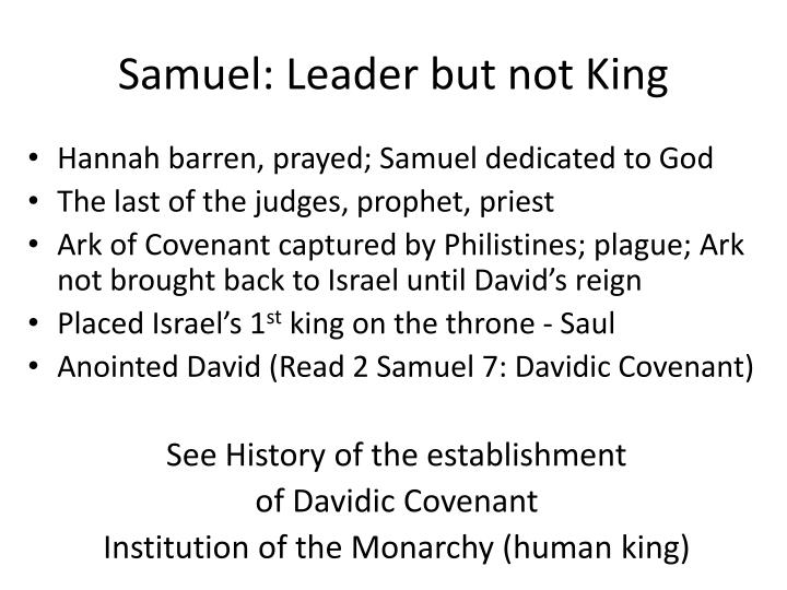 Samuel: Leader but not King