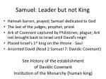 samuel leader but not king