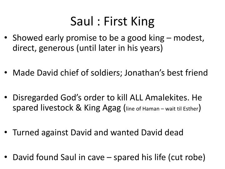 Saul : First King