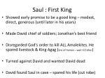 saul first king