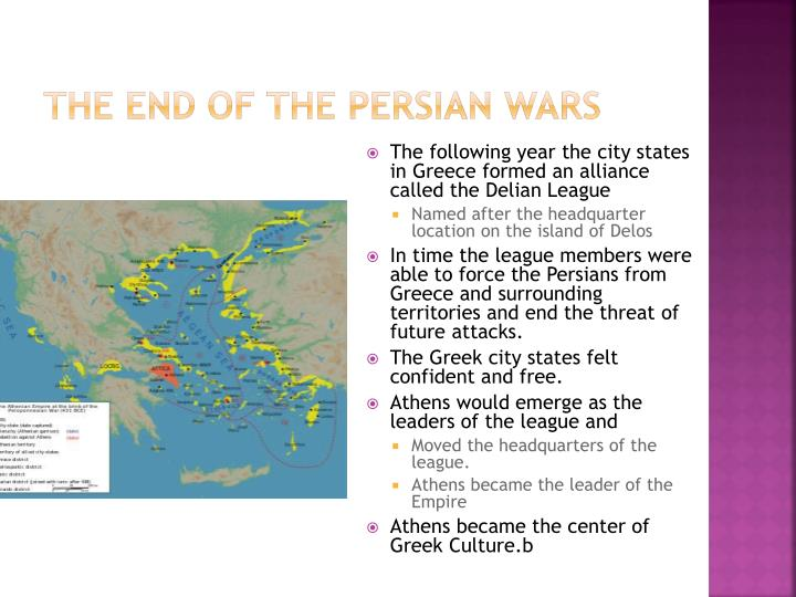 The end of the Persian wars