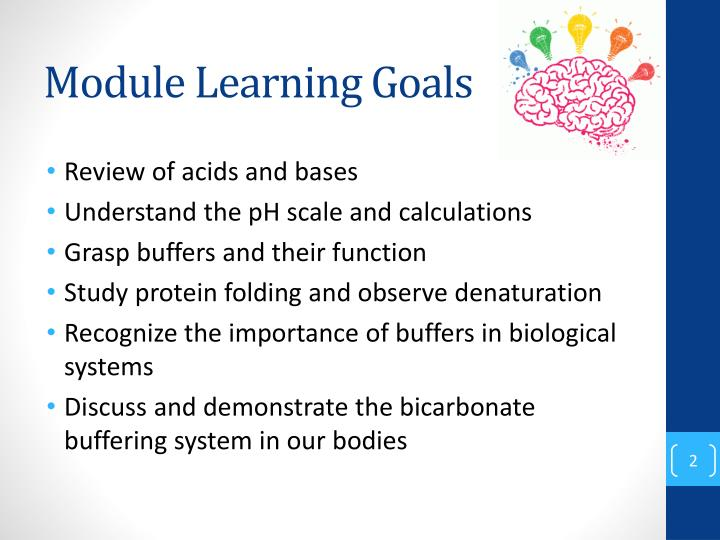 Module learning goals