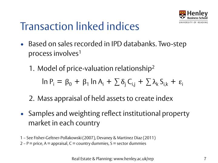 Transaction linked indices