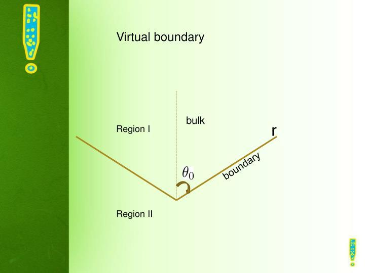 Virtual boundary