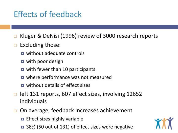 Effects of feedback