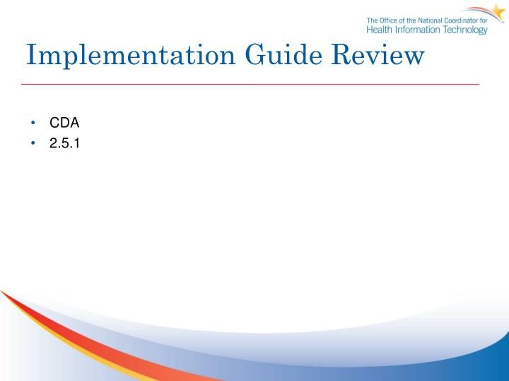 Implementation Guide Review