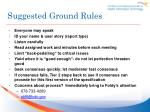 suggested ground rules