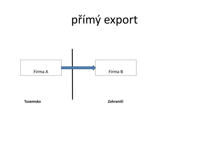 přímý export