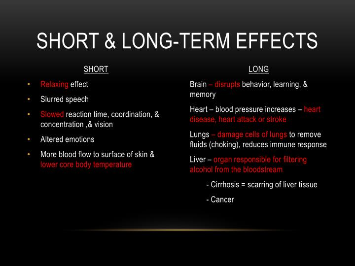 Short & long-term effects