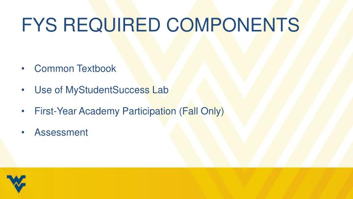 FYS Required Components
