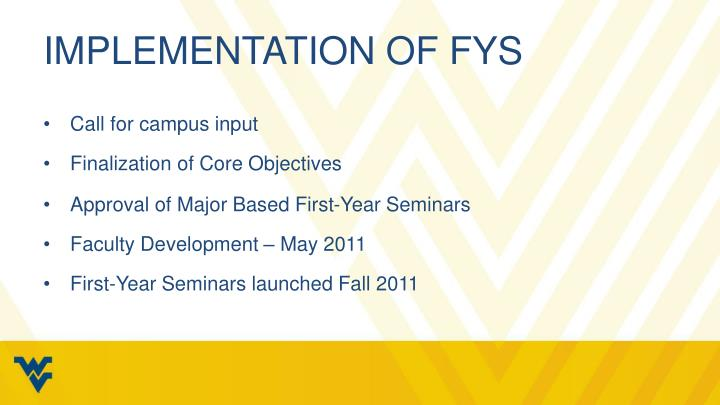 Implementation of FYS
