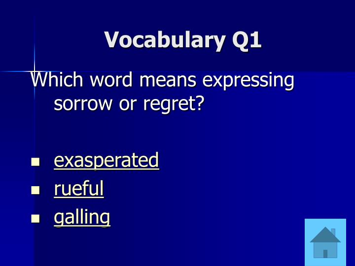 Vocabulary Q1